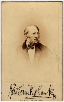 George Cruikshank, by London Stereoscopic & Photographic Company - NPG x7057