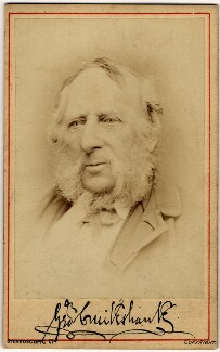 George Cruikshank, by London Stereoscopic & Photographic Company - NPG x7059