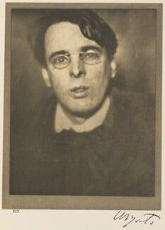 W.B. Yeats, by Alvin Langdon Coburn, 24 January 1908 - NPG Ax7786 - © The Universal Order