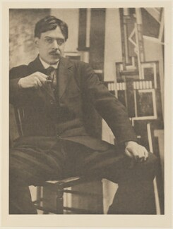 Wyndham Lewis, by Alvin Langdon Coburn, published by  Duckworth & Co - NPG Ax7830
