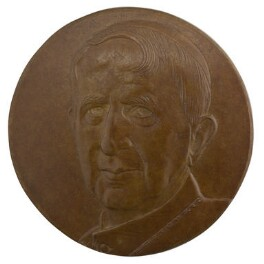 Basil Hume, by Avril Vaughan - NPG D11466