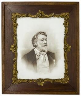 Frederic Leighton, Baron Leighton, by William Henry Hoather, probably for  Elliott & Fry - NPG x23311