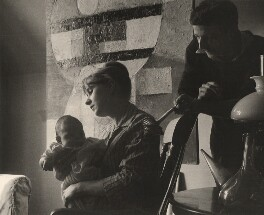 Crispin Green; Lola Green (née Fielding); Terry Green, by Lewis Morley - NPG x125183