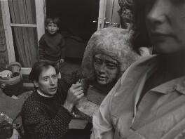 Sydney Charles Harpley; Sally Harpley; and their son, by Lewis Morley - NPG x125189