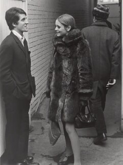Justin de Villeneuve; Twiggy and an unknown man, by Lewis Morley - NPG x125242