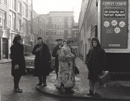 The Alberts (Tony Gray; Dougie Gray); Joyce Grant; Bruce Lacey; Ivor Cutler and an unknown man, by Lewis Morley - NPG x125246