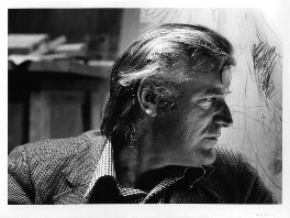 Ted Hughes, by Noel Chanan - NPG x125272