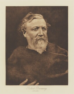 Robert Browning, by Julia Margaret Cameron, published by  T. Fisher Unwin, published 1893 (1865) - NPG Ax29134 - © National Portrait Gallery, London