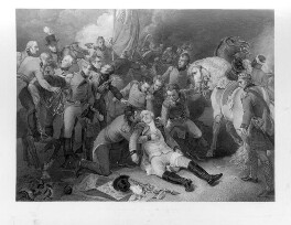 The Death of General Sir Ralph Abercromby, K.B., by Francis Legat, after  Thomas Stothard, published 1805 (reissued 1828) - NPG D11101 - © National Portrait Gallery, London