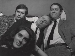 'The Establishment' cast (John Fortune; Eleanor Bron; John Bird; Jeremy Geidt), by Lewis Morley - NPG x125249