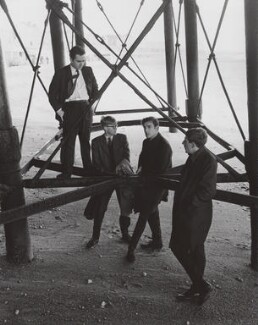 Beyond the Fringe (Dudley Moore; Alan Bennett; Peter Edward Cook; Jonathan Miller), by Lewis Morley, 1961 - NPG x125263 - © Lewis Morley Archive