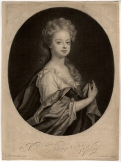 Elinor (Eleanor) Copley, by John Smith, after  Sir Godfrey Kneller, Bt, 1694 - NPG D1551 - © National Portrait Gallery, London