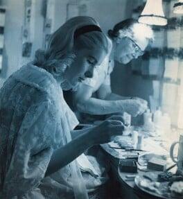Susan Hampshire and an unknown woman, by Derek Allen - NPG x45668