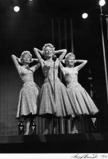 'The Beverley Sisters' (Babs Beverley; Joy Beverley; Teddie Beverley), by Harry Hammond - NPG x15518