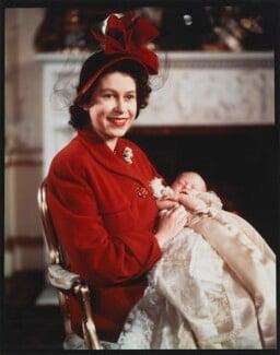 Queen Elizabeth II; Prince Charles, by Baron (Sterling Henry Nahum) - NPG x35386