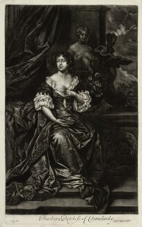 Barbara Palmer (née Villiers), Duchess of Cleveland, published by Alexander Browne, after  Sir Peter Lely, circa 1680-4 - NPG D11405 - © National Portrait Gallery, London