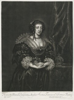 Henrietta Maria, published by Alexander Browne, after  Sir Anthony van Dyck, circa 1680-84 (1632) - NPG D11407 - © National Portrait Gallery, London