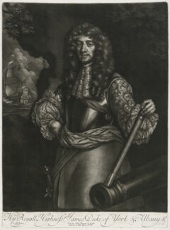 King James II when Duke of York, published by Alexander Browne, after  Sir Peter Lely - NPG D11410