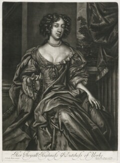 Mary of Modena, published by Alexander Browne, after  Sir Peter Lely - NPG D11411