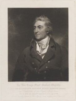 Sir Andrew Snape Hamond, by George Henry Phillips, published by  Martin Colnaghi, after  Sir Thomas Lawrence - NPG D15153