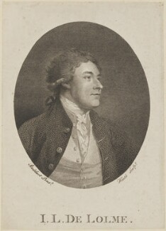 John Louis De Lolme, by James Heath, probably after  Thomas Stothard - NPG D11462