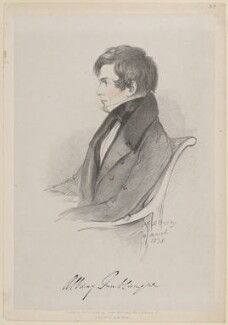Albany William Fonblanque, by Richard James Lane, printed by  Jérémie Graf, published by  John Mitchell, after  Alfred, Count D'Orsay - NPG D46239