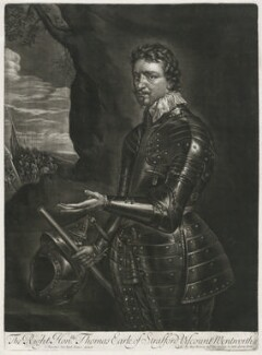 Thomas Wentworth, 1st Earl of Strafford, sold by Alexander Browne, after  Sir Anthony van Dyck, circa 1680-1684 (1636) - NPG D11414 - © National Portrait Gallery, London