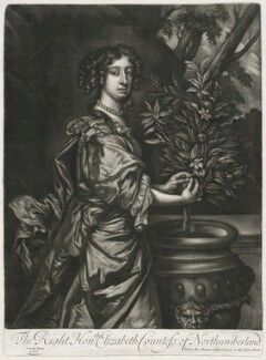Elizabeth Montagu (née Wriothesley), Countess of Montagu when Countess of Northumberland, published by Alexander Browne, after  Sir Peter Lely - NPG D11419
