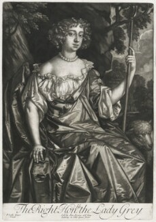 Catherine Grey (née Ford), Lady Grey of Warke, published by Alexander Browne, after  Sir Peter Lely, circa 1684 - NPG D11431 - © National Portrait Gallery, London