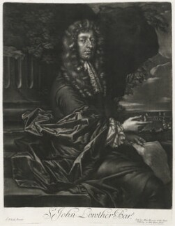 Sir John Lowther, 2nd Bt, published by Alexander Browne, after  Sir Peter Lely, circa 1684 - NPG D11433 - © National Portrait Gallery, London