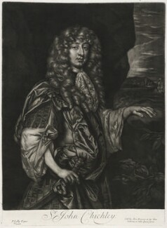 Sir John Chicheley, published by Alexander Browne, after  Sir Peter Lely, circa 1684 - NPG D11434 - © National Portrait Gallery, London