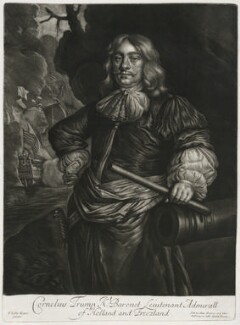 Cornelis van Tromp, published by Alexander Browne, after  Sir Peter Lely, circa 1684 - NPG  - © National Portrait Gallery, London