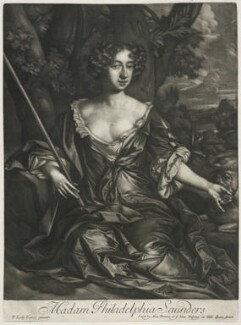 Philadelphia Saunders, published by Alexander Browne, after  Sir Peter Lely, circa 1684 - NPG  - © National Portrait Gallery, London