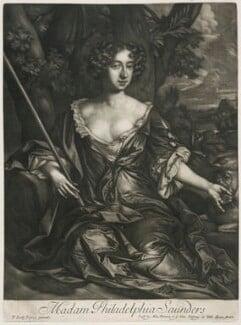 Philadelphia Saunders, published by Alexander Browne, after  Sir Peter Lely, circa 1684 - NPG D11441 - © National Portrait Gallery, London