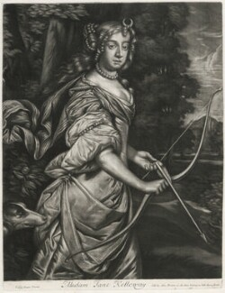 Jane Kelleway as Diana, published by Alexander Browne, after  Sir Peter Lely, circa 1684 - NPG D11444 - © National Portrait Gallery, London