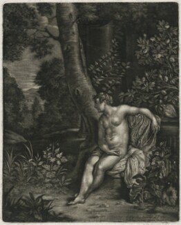 A Naked Woman in a Landscape, published by Alexander Browne, after  Frans van Mieris the Elder - NPG D11446