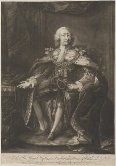 Frederick Lewis, Prince of Wales, by Thomas Frye, published 1741 (1734) - NPG D11285 - © National Portrait Gallery, London