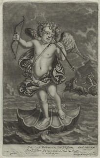 Cupid, by John Smith, published by  Alexander Browne, after  Balthazar van Lemens, circa 1684 - NPG  - © National Portrait Gallery, London