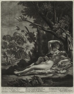 Venus and Adonis, by John Smith, published by  Alexander Browne, after  Nicolas Poussin, circa 1684 - NPG  - © National Portrait Gallery, London