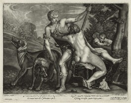 Venus and Adonis, by John Smith, published by  Alexander Browne, after  Titian, circa 1684 (mid 1560s) - NPG  - © National Portrait Gallery, London