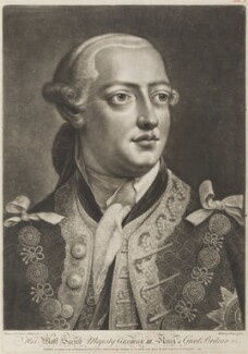 King George III, by William Pether, published by  Henry Parker, and published by  John Boydell, after  Thomas Frye - NPG D11286