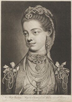 Charlotte of Mecklenburg-Strelitz, by Thomas Frye - NPG D11287