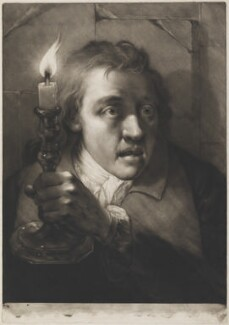 Young man holding candlestick, by Thomas Frye, published 1760 - NPG D11289 - © National Portrait Gallery, London