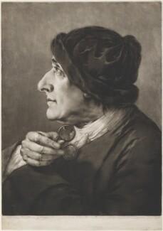 Old man wearing velvet cap, by Thomas Frye - NPG D11293