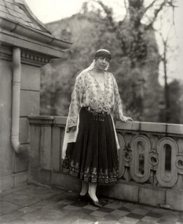 Marie, Queen of Romania, by Vandyk, 9 May 1924 - NPG x129682 - © National Portrait Gallery, London