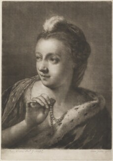 Young girl wearing feather in her hair, by Thomas Frye - NPG D11301