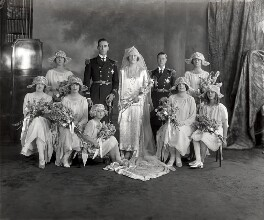 The Wedding of the Earl and Countess Mountbatten, by Vandyk, 18 July 1922 - NPG x32104 - © National Portrait Gallery, London