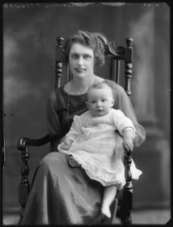 Geraldine Margot (née Digby), Lady Malcolm; Margaret Jane Venetia Holt, by Bassano Ltd - NPG x120430