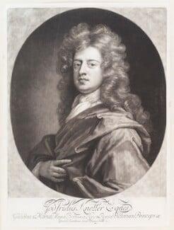 Sir Godfrey Kneller, Bt, by John Smith, after  Sir Godfrey Kneller, Bt, 1694 (circa 1688-1690) - NPG  - © National Portrait Gallery, London