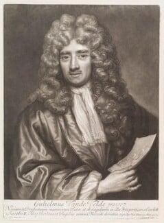 William van de Velde the Younger, by John Smith, after  Sir Godfrey Kneller, Bt - NPG D11496